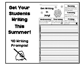 Summer Writing Collection for First Graders