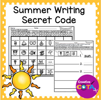 Summer Writing Secret Code