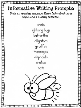 Summer Writing Send Home Packet {classroom use too!}