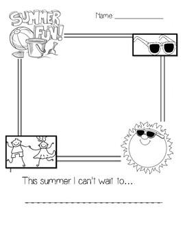 Summer Writing Sheet
