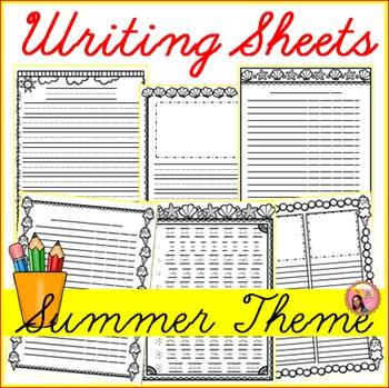 Summer Writing Sheets