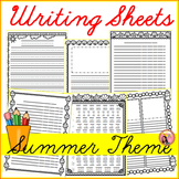 Summer Writing Sheets
