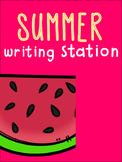 Summer Writing Station