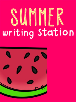 Summer Writing Station