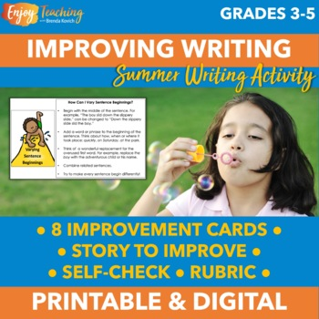 Summer Strategies To Improve Your >> Summer Writing Activities To Improve Narrative Writing By Brenda Kovich