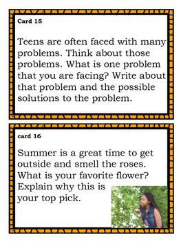 Summer Writing Task Cards