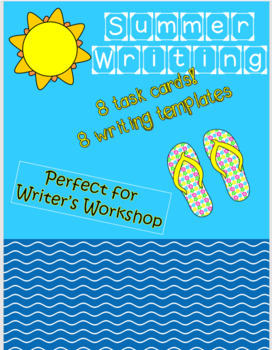 Summer Writing Task Cards with Writing Templates