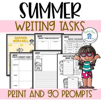 Summer Writing Tasks