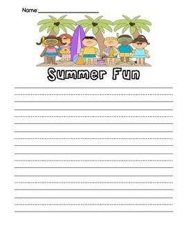 Summer Writing Template
