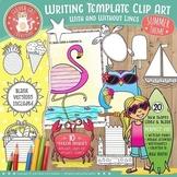 Summer Writing Template Clip Art