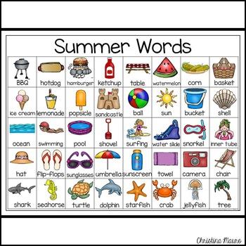 Summer - Writing Words