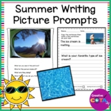 Summer Writing Worksheets with Picture Prompts