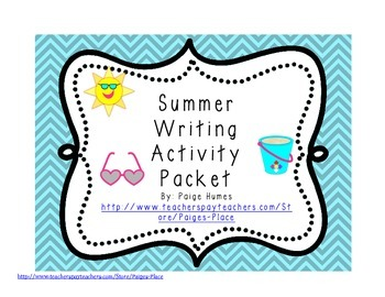 Summer Writing and Activity Pack
