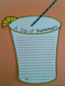Summer Writing and Craft - A Sip of Summer