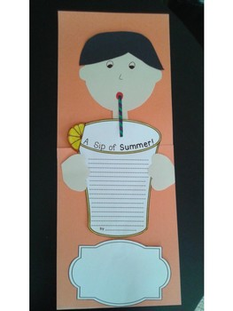Summer Writing and Craft - A Sip of Summer - Back to School Best Seller!