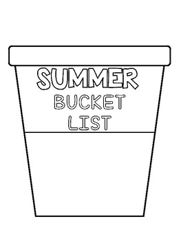 "Summer Writing craftivity! "" Bucket List"""