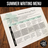 Summer Writing for Teens: Choice Menu with 40 Prompts {June & July}