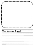 Summer Writing template