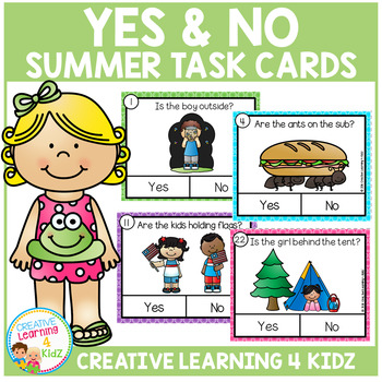 Yes & No Summer Picture Question Task Cards