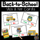 Back-to-School Yes and No Question Cards