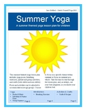 Summer Yoga Lesson Plan