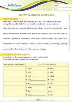 Summer - Your Summer Holiday - Grade 3