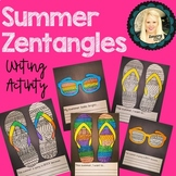 Summer Zentagles Writing Activity! End of the year!