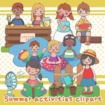Summer Activities Clipart By Rivulet Teachers Pay Teachers