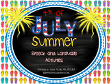 Summer and 4th of July Independence Day Speech & Language Activity Pack (CCSS)