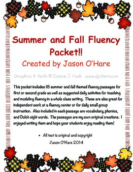 Summer and Fall DIBELS Fluency Practice Passages