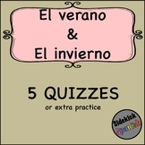 Summer and Winter Spanish Vocabulary Quizzes (Así Se Dice Chapter 7)