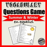 Summer and Winter Vocabulary Questions Game (Asi Se Dice C