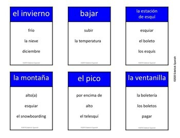 Summer and Winter Vocabulary Taboo Game (Asi Se Dice Chapter 7)