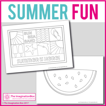 Summer Coloring Pages: 25 print and go templates