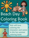 Summer at the Beach Coloring Book