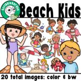 Summer at the Beach Kids Clipart