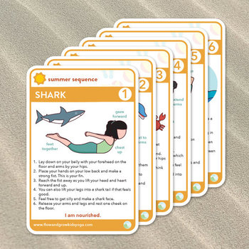 Summer At The Beach Printable Yoga Cards Coloring Book Tpt