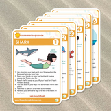 Summer at the Beach Printable Yoga Cards + Coloring Book