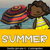 Summer at the Beach Theme Preschool and Kindergarten Printables and Centers