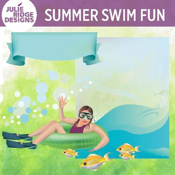 Summer Swim Fun Clip Art Set