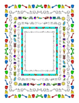 Summer borders, frames and clip art