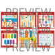 Summer bundle Clip art and digital paper