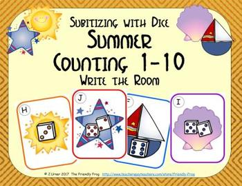Summer Counting 1-10 {Subitizing with Dice}