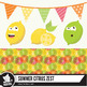 Summer citrus clipart set