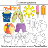 Summer clip art free resource