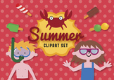 Summer clip art set