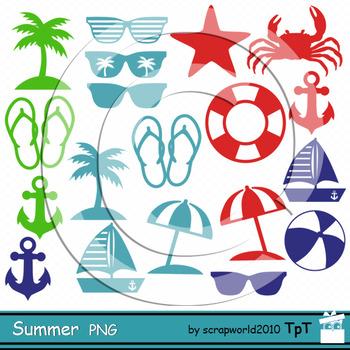 Summer clipart silhuette clipart