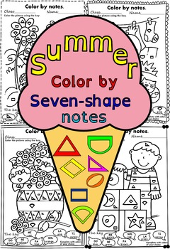 Summer color by seven-shape notes
