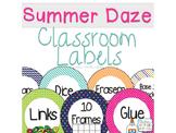 Summer School Classroom labels