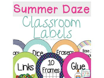 Summer School Classroom labels